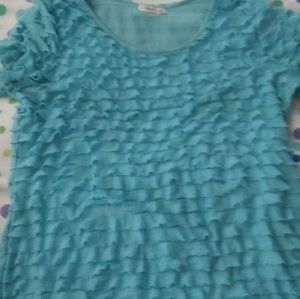 4 FOR $10 Xl CATOS WOMENS  BLUE BLOUSE